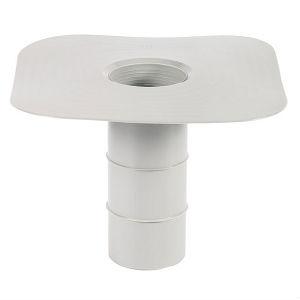 Водостічна воронка ПВХ ∅ 150 L = 250 мм, (для мембранної покрівлі)